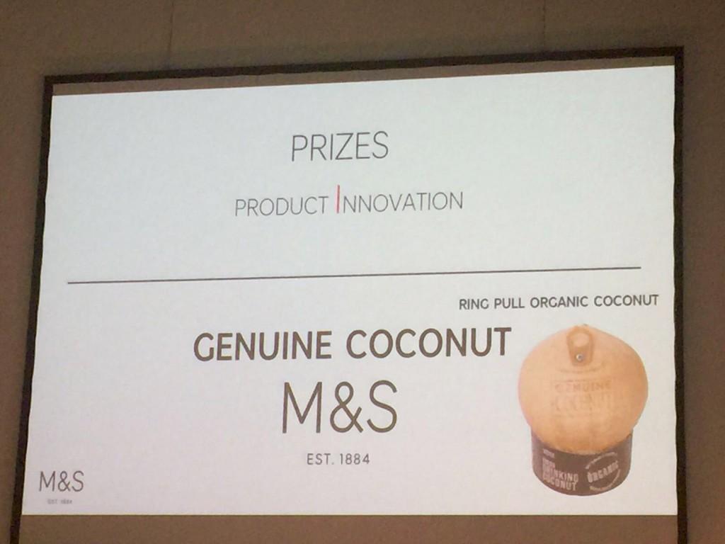 Agua de coco Genuine Coconut Premio innovation