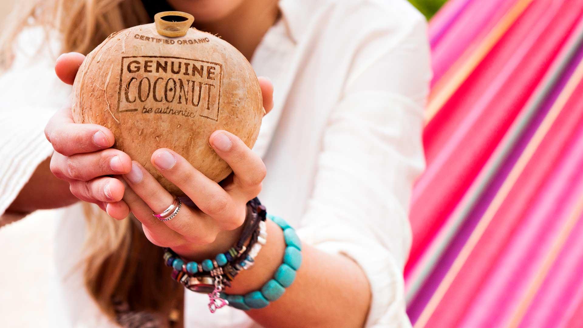 agua de coco genuine coconut salud energia