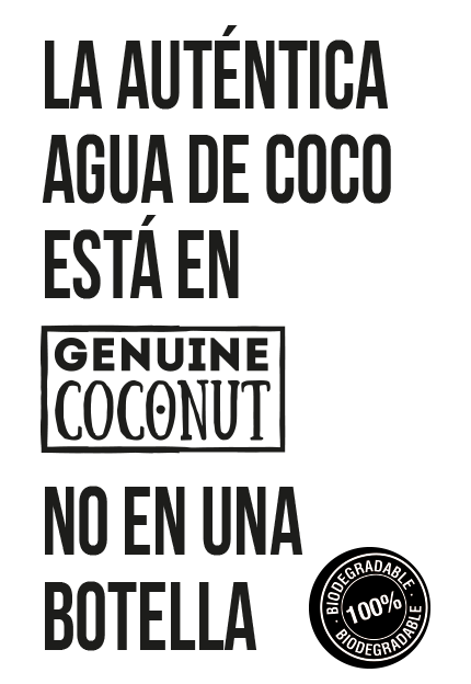 autentica agua de coco genuine coconut