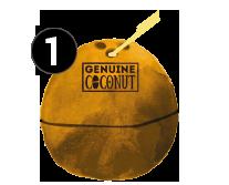 genuine coconut abre fácil agujero